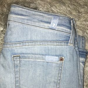 7 For All Mankind Distressed Skinny Jeans Size 24